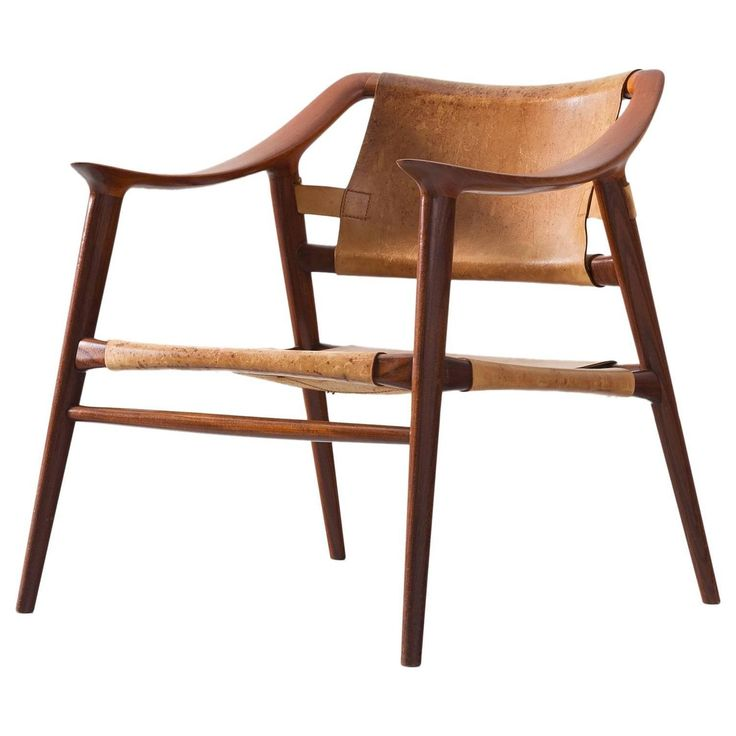 Rastad & Relling 'Bambi' Armchair in Teak and Cognac Leather 1
