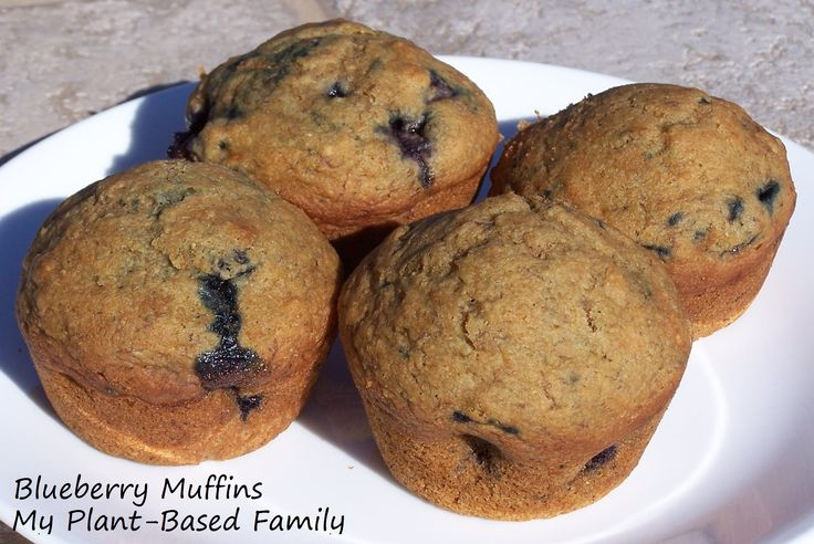 Blueberry Muffins are perfect for breakfast, brunch or dessert! They are vegan and made with whole wheat pastry flour! Oil-free too.