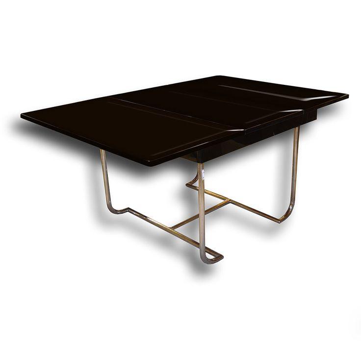 Chromový jídelní stůl - funkcionalismus   Chrome dining table functionalism