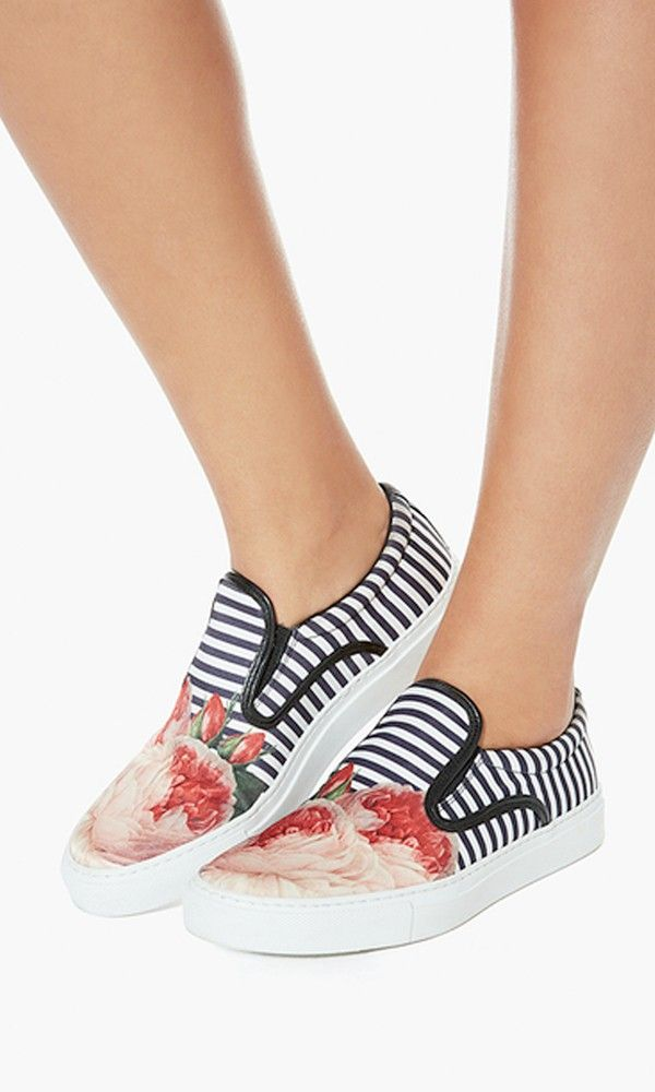The London label tackles skate shoes with their signature sport aesthetic. Bold stripes and florals makes getting on board a no-brainer.