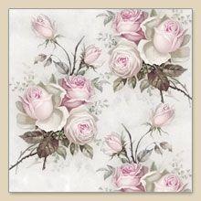 Serwetka papierowa - Pink roses - 06502