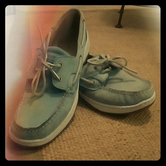 New Blue Boat Shoes Blue boat shoes. Never worn. Highland Creek Shoes