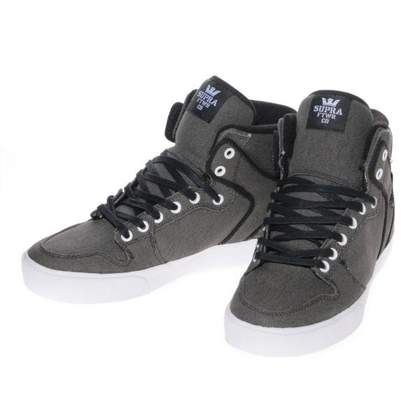 Supra Shoes - Vaider (Black Washed Canvas)