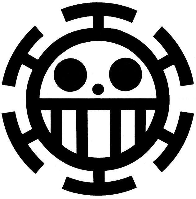 Trafalgar Law The Heart Pirates Logo From Anime One Piece Bajak Laut Seni Gambar Karakter