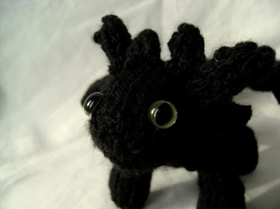 Toothless the Night Fury by fortheloveofhandknit on Etsy, $30.00