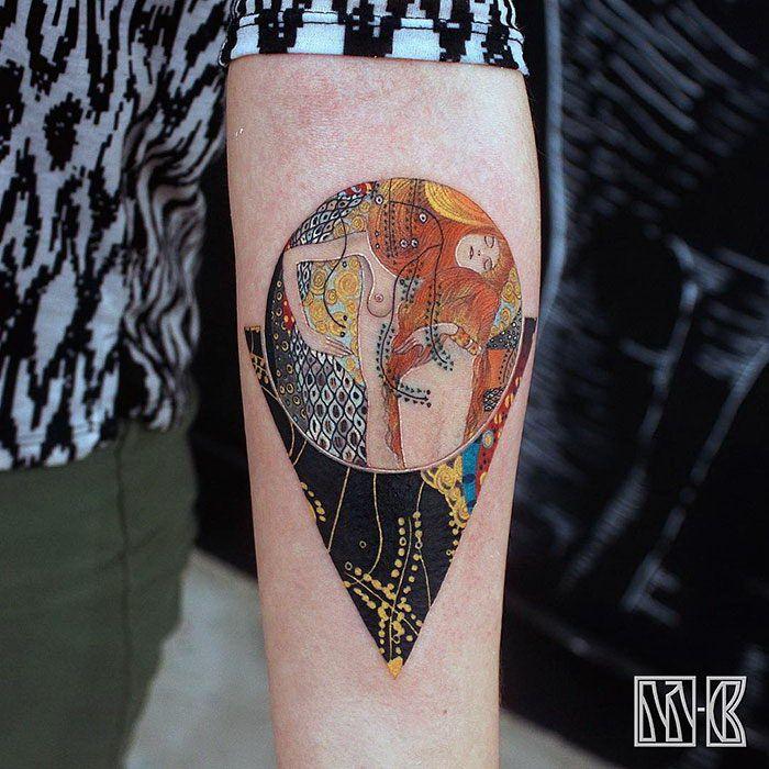 10 татуировок по мотивам картин Густава Климта