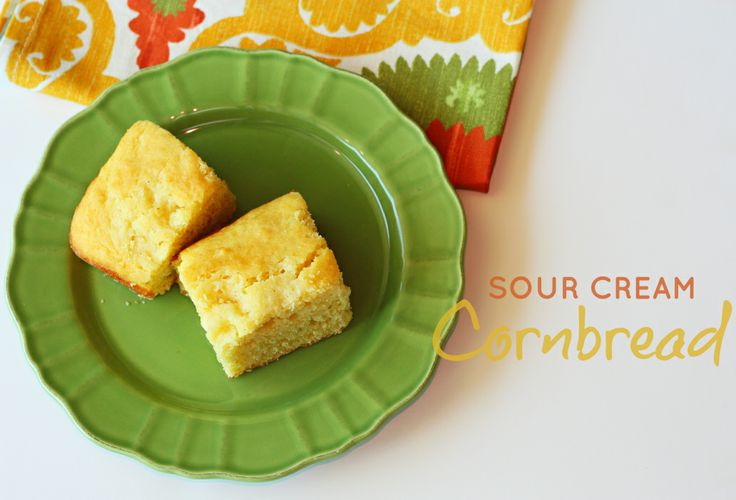 Cornbread with sour cream