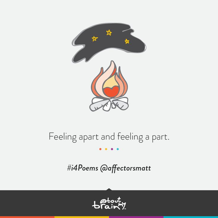 """""""Feeling Apart And Feeling A Part."""" #i4Poems By"""