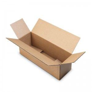 Caja con solapas superpuestas a medida