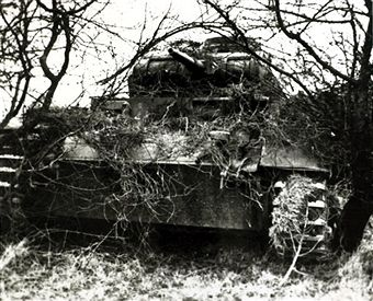 German tank awaits orders to attack on the western front, Germany's victory in France in 1940 followed the 'Phoney War, (September 1939-April 1940) and the German breakthrough accomplished at great speed meant France was forced to surrender in June 1940 - pin by Paolo Marzioli