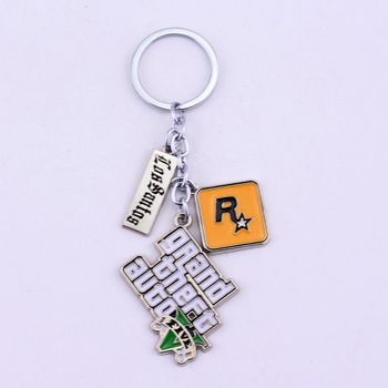 PS4 GTA 5 Game keychain Hot Sale ! Grand Theft Auto 5 Key Chain For Fans Xbox PC Rockstar Key Ring Holder 4.5cm Jewelry Llaveros  Price: 1.20 USD