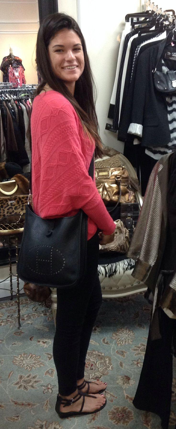 Alessandra Ambrosio Hermes Evelyne Bag (by purseblog.com) | Herm¨¨s ...