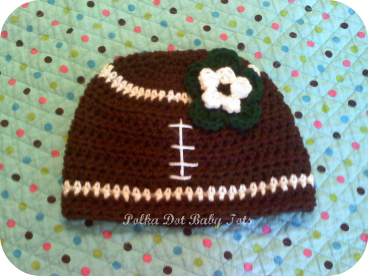 Football hat with Eagles color flower (for a customer...I'm a Packers fan (: )