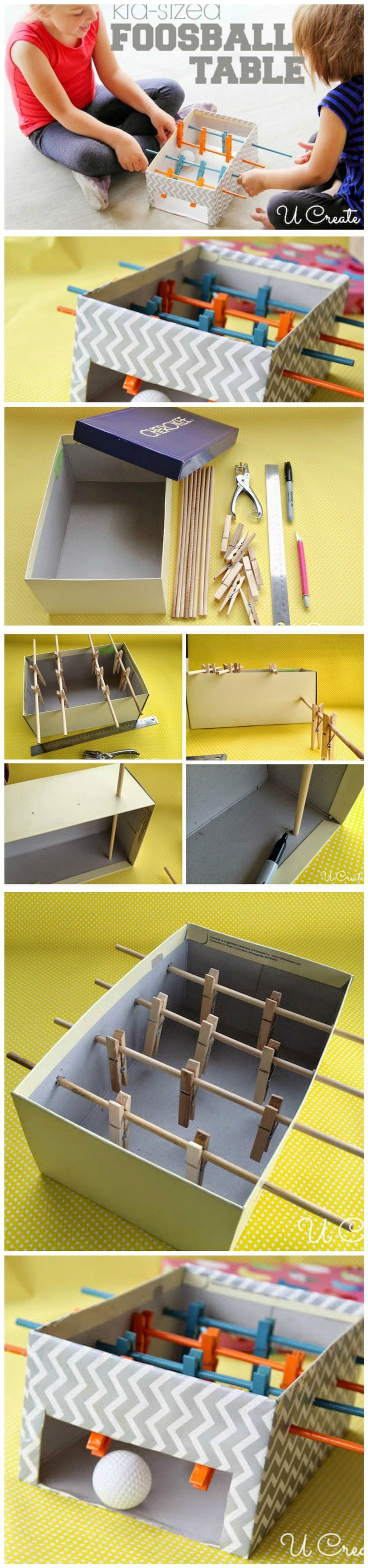 How to Easily Make a Mini Foosball Table