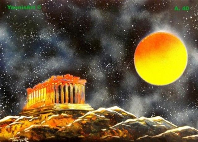 Parthenon - Spray paint art  Here is the video: https://www.youtube.com/watch?v=QvqojFFOs_g