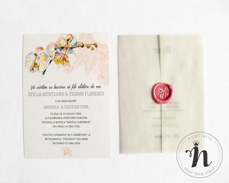 "Invitatii nunta moderne, elegante, cu orhidee- ""CAMILLA"""