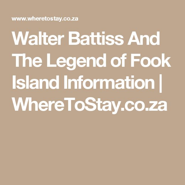 Walter Battiss And The Legend of Fook Island Information | WhereToStay.co.za