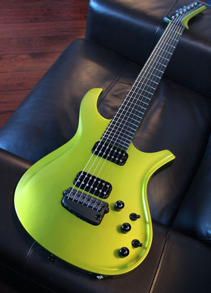 parker custom shop 7 string maxxfly lime gold beautiful guitars guitar music guitar guitar. Black Bedroom Furniture Sets. Home Design Ideas