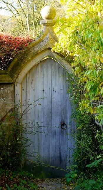 From the outside, my walled garden will be reached through a simple secret door.
