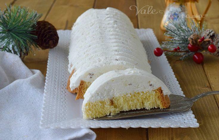 SEMIFREDDO AL TORRONE E PANDORO dolce di Natale, ricetta con il pandoro facile, ricetta con il torrone velocissima e golosa