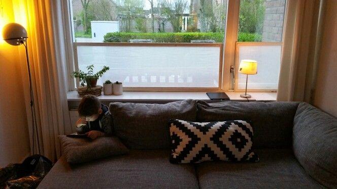 Fabric/wood diy window screen
