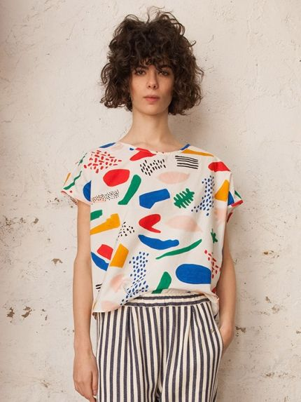 Matisse Blouse: great colors, as simple as a t-shirt but so much more intrigue.
