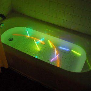 Neon Lights Nighttime Bath