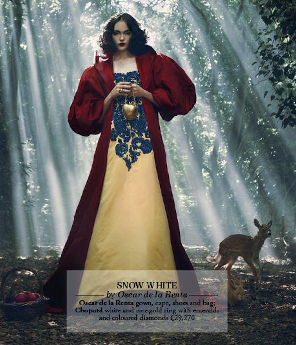 Disney princess-inspired ensembles - Snow White by Oscar de la Renta