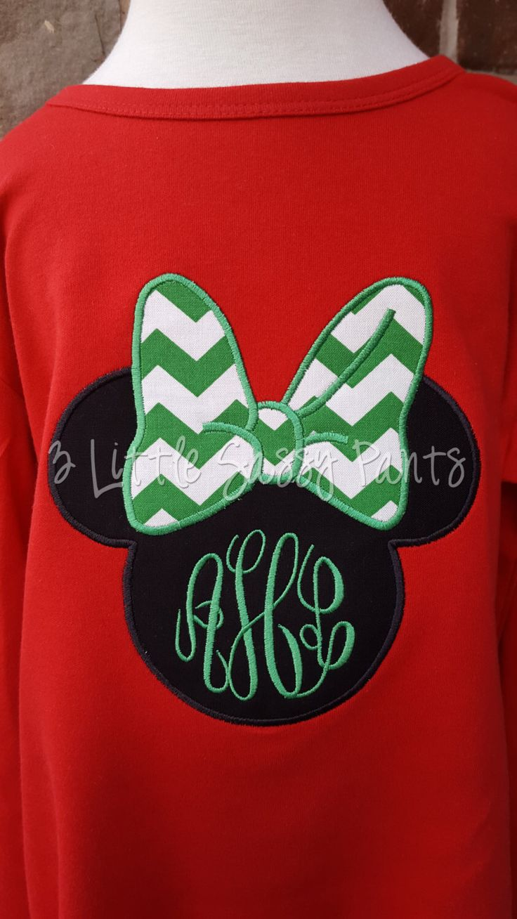 Minnie Mouse Christmas Shirt- Minnie Monogram Shirt- Minnie Applique Shirt- Disney Christmas Shirt- Christmas Party- by 3LittleSassyPants on Etsy https://www.etsy.com/listing/254717508/minnie-mouse-christmas-shirt-minnie