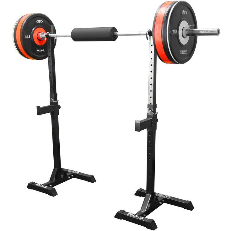 Valor Fitness BD-3 Squat Stands, Grey