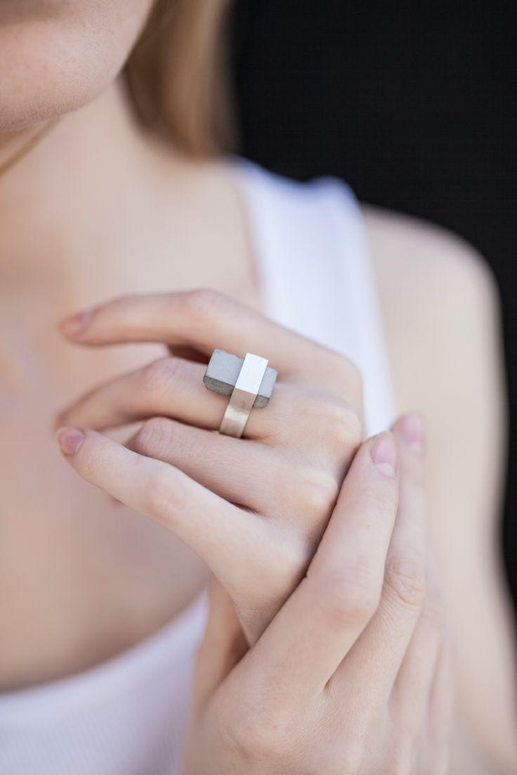 Biżuteria z betonu - Magdalena Falkiewicz
