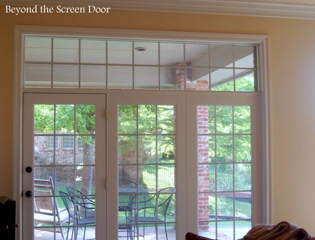 How To Treat 3 Corner Windows And A Triple French Door All