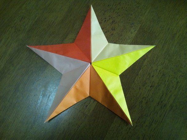 クリスマス 折り紙 折り紙 星の作り方 : gr.pinterest.com