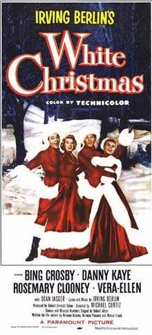 White Christmas //   Directed by	Michael Curtiz  Produced by	Robert Emmett Dolan  Written by	Norman Krasna  Norman Panama  Melvin Frank  Starring	Bing Crosby  Danny Kaye  Rosemary Clooney  Vera-Ellen  Dean Jagger  Mary Wickes  Music by	Irving Berlin  Cinematography	Loyal Griggs  Editing by	Frank Bracht  Distributed by	Paramount Pictures  Release date(s)	October 14, 1954