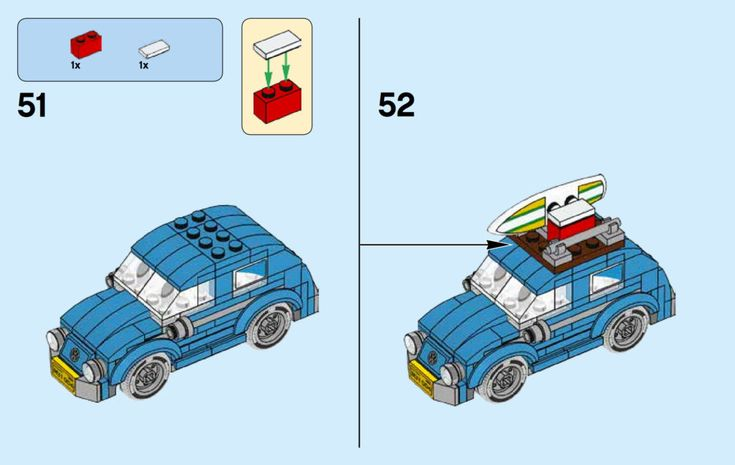 LEGO Volkswagen Mini-Beetle Instructions