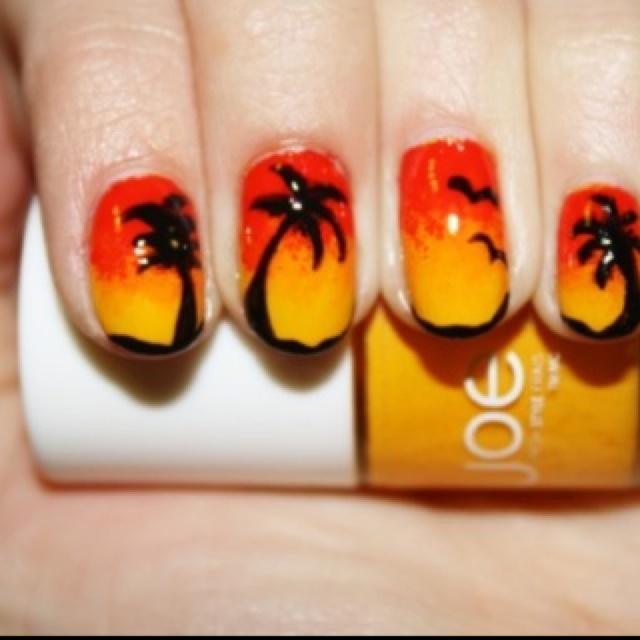 8 Best Beach Theme Images On Pinterest Summer Nail Art Summer