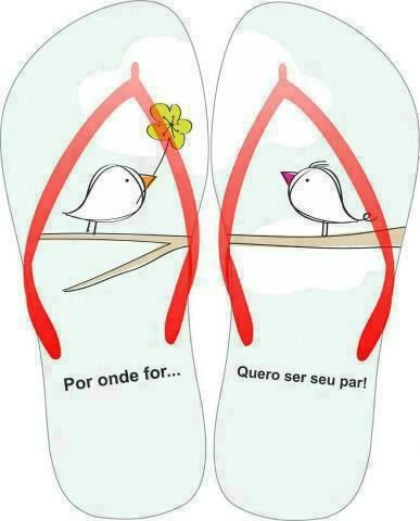 sugestão de estampa para chinelos: Love, Message, Por But, Quote, I Want To Be, Word, Ser Seu, Para Chinelo, Seu Par