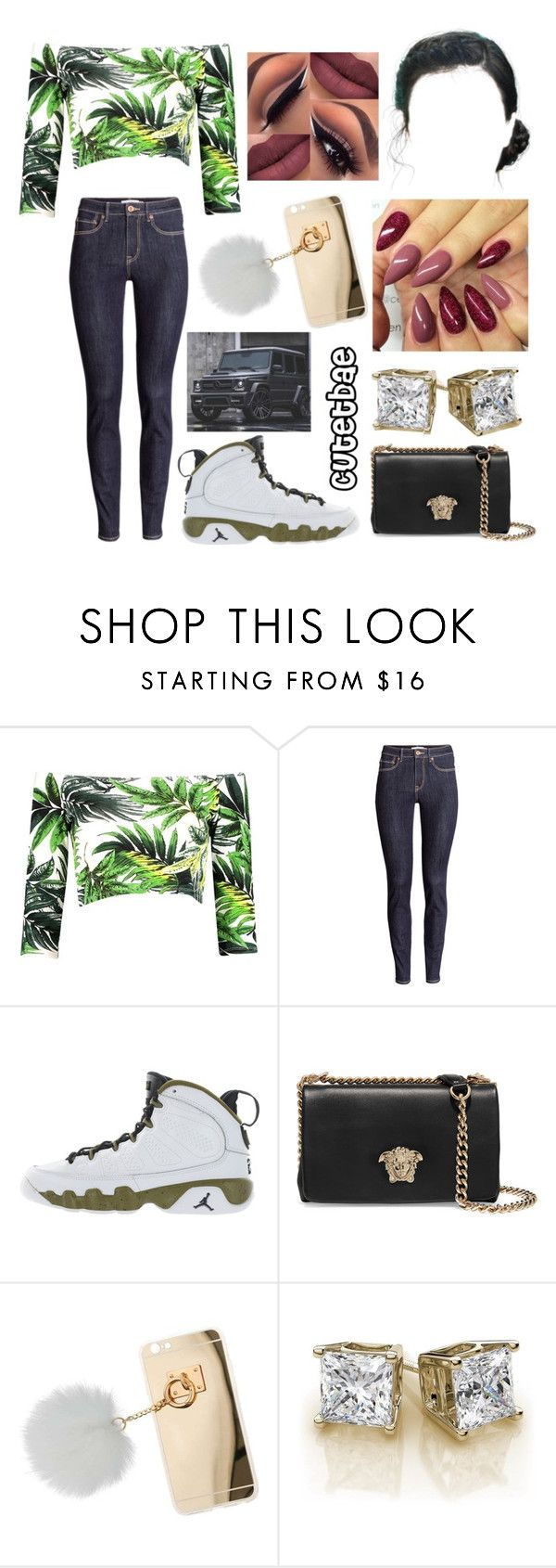 """Tattooed Heart ~Ariana Grande"" by cutetbae ❤ liked on Polyvore featuring H&M, Retrò, Versace and Miss Selfridge"
