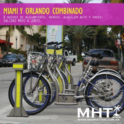 Combina #MIAMI y #ORLANDO con esta oferta turistica.