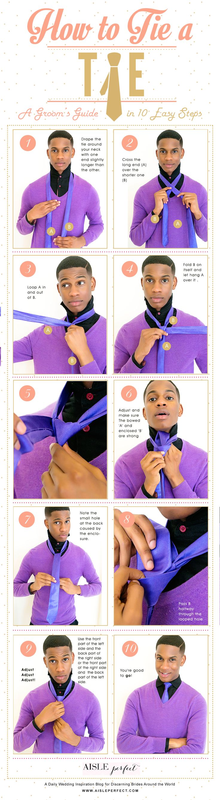 How To Tie A Tie Tutorial Aisle Perfect