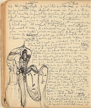Manuscript page from Proust's Swann's Way.