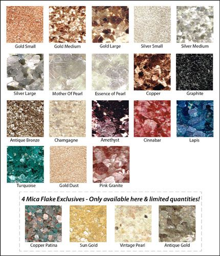 Countertop Paint Flakes : The Original Mica Flakes for countertop. Sprinkle lapis flakes on ...