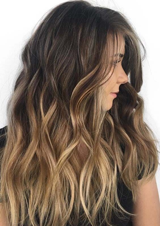Balayage is one of the hair colors which have various highlights to sport with different hair lengths. See here the beauty of gradient blend hair colors and highlights in year 2018. Best hair colors trends for long, curls, medium and short hair.