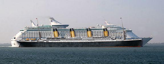 Modern Cruise Ship Compared To The Titanic  Ship Board