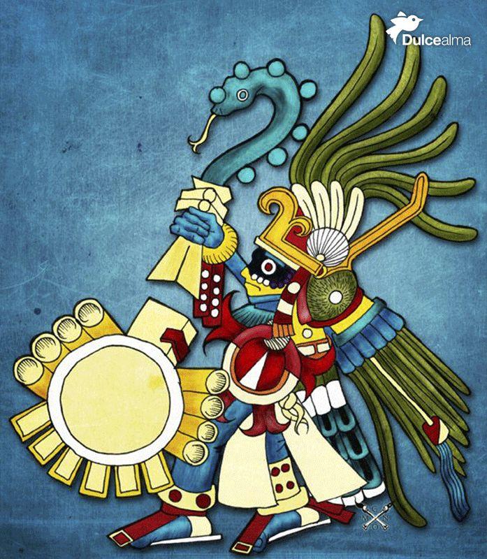 Huitzilopochtli o Colibrí del sur, guía principal de los mexicas o aztecas desde el inicio de su peregrinación hasta su establecimiento en Tenochtitlan. Checa la interesante historia aquí: http://buff.ly/1FCiawl #DulceDato #CulturaMex #visitmexico