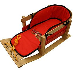 @Overstock - This toddler sled from Flexible Flyer is made of wood and is padded. A cord makes this sled easy to pull. http://www.overstock.com/Sports-Toys/Flexible-Flyer-Padded-Wood-Toddlers-Sled/5408415/product.html?CID=214117 $87.00