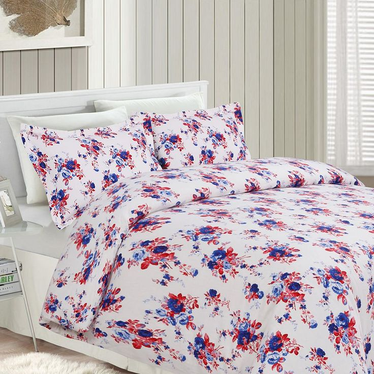 Printed Flannel 3-pc. Luxury Duvet Cover Set, Red