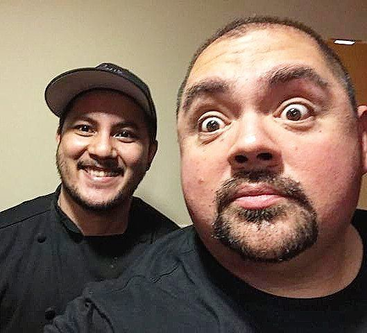 "Heeeyyy Maarrrrrrtin its Gabriel ""Fluffy"" Iglesias  Such an honor to have make a special request dinner for my awesome fav comedian!  #royswaikiki #royshawaii #fluffy #gabrieliglesias #comedian by mdebrum"