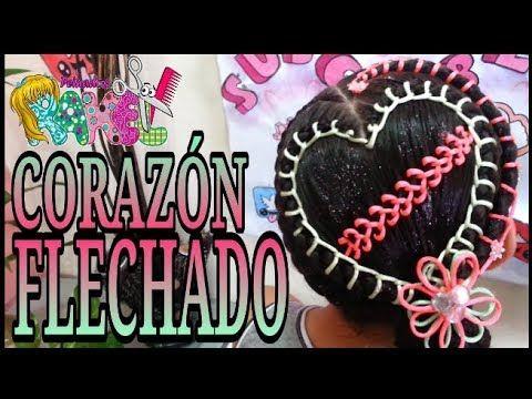 PEINADO INFANTIL/ CORAZÓN FLECHADO/ Peinados Rakel 29 - YouTube
