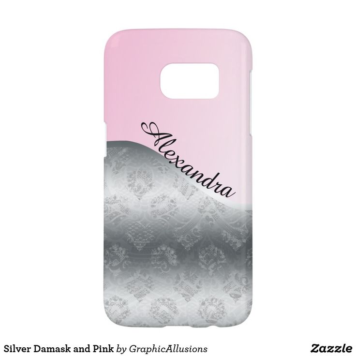 Silver Damask and Pink Samsung Galaxy S7 Case